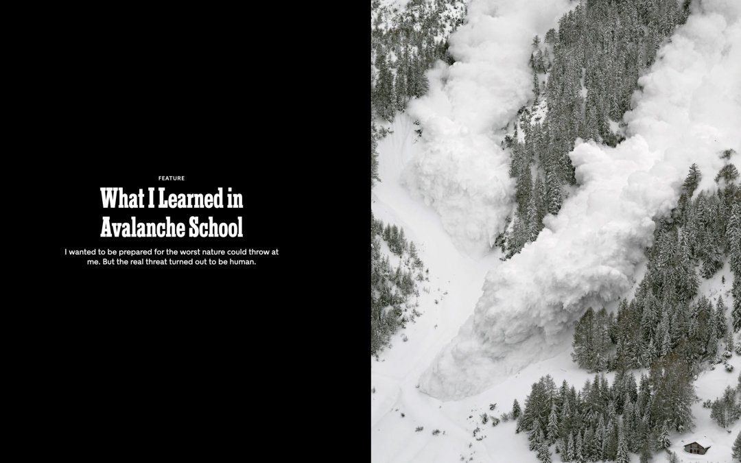 What Causes Avalanches? Humans!